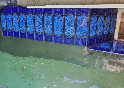 Nate's Pool Tile Cleaning Service Before and After