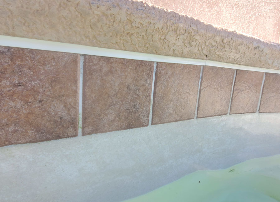 Swimming pool tile cleaned like new